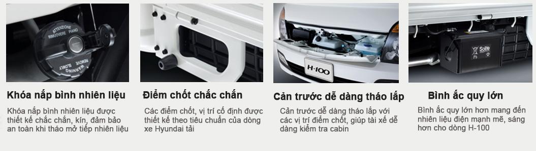 Hyundai Porter H100 trọng tải 1.5 tấn