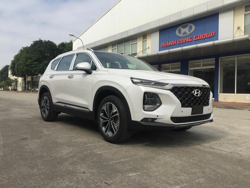 Santafe 2019 máy dầu màu trắng - Hyundai Việt Trì